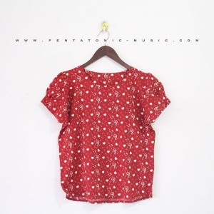 Blouse | Music Treble 2 Top - Red