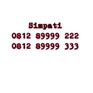 Nomor Cantik Simpati Seri double AAA 0812 89999 222 0812 89999 333 #Ny