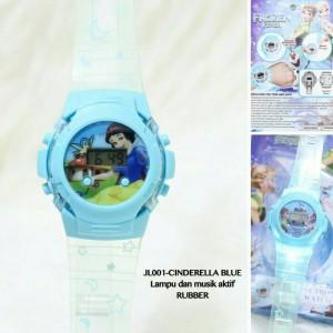 jam tangan snow white anak anak lampu lagu musik bisa nyala led
