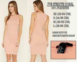 Dress Branded - FOREVER21 STRETCH CORAL