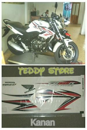 Stripping List Bodi Honda CB 150R Streetfire Old Putih list merah 1