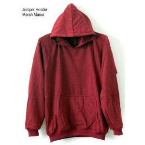 Hoodie Jumper Merah Maroon