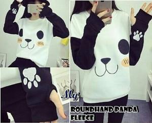 o SWEATER PANDA PUTIH | Sweater Babyterry Tebal Panda XL