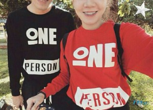 mine o CP PERSON HITAMMERAH | Sweater Baju Kaos Couple Korea Fit XL