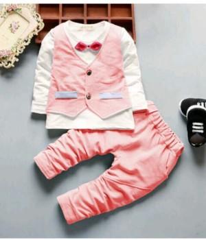 o ST EMZOKID Pink   Baju Setelan Anak 3-5 tahun
