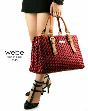 Webe Casandra Polyster Combi leather 3ruang inside SUEDE (3345) Suede