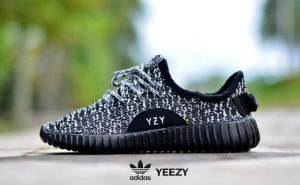 sepatu casual sport running gym women adidas yeezy black