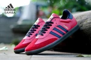 sepatu casual sport running pria adidas samba classic red gum