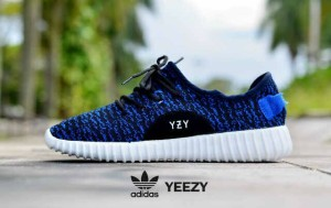 sepatu casual running gym women adidas yeezy blue