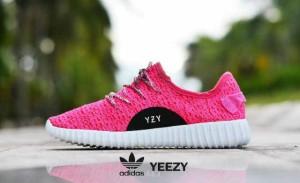 sepatu casual sport running gym adidas yeezy pink