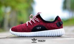 sepatu casual sport running wanita adidas yeezy red white