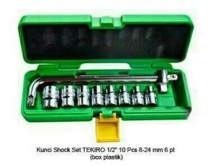 """KUNCI SHOCK SET TEKIRO1/2"""" 10PCS 8-24mm"""