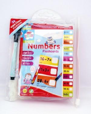 Buku Anak Kids Create Learn Numbers Flashcards with wipe clean pen