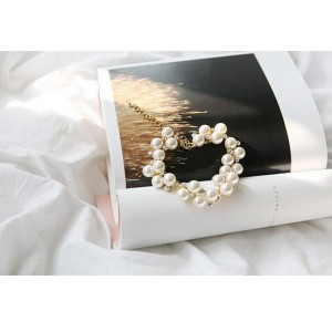 Gelang Fashion Pearl Diamond Bracelet