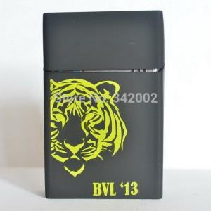 Cover Kotak Rokok Silicone Motif Macan - Black