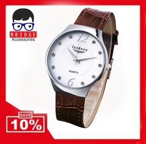 Jam Tangan Wanita Isidore Water Resistant Leather 8493L - Brown Coklat