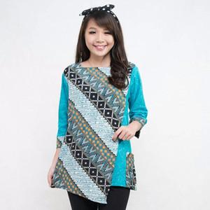 NEW SB Collection Belinda Blouse Batik - Hijau XL HGB