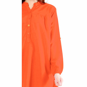 NEW JO & NIC Kemeja Tunik Lengan Panjang 3 size M/L/XL - Orange HGB