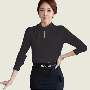 NEW Jfashion Korean Style Basic Blouse Monica - Hitam HGB