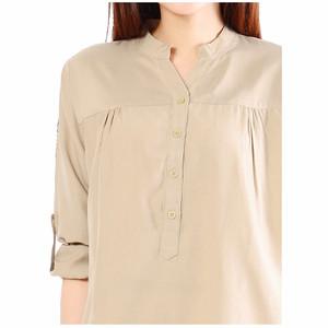 NEW JO & NIC Kemeja Tunik Lengan Panjang 3 size M/L/XL - Brown HGB