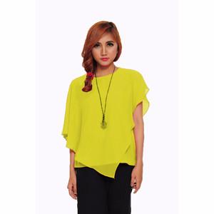 NEW Jfashion Blus Fashion Korean Style Jersey Combination - Kuning HGB