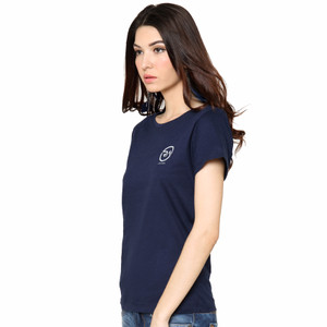 NEW RA Jeans Ladies Small Logo Tee - Navy HGB