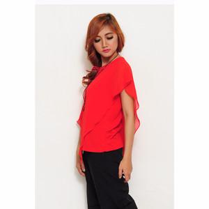 NEW Jfashion Blus Fashion Korean Style Jersey Combination - Merah HGB