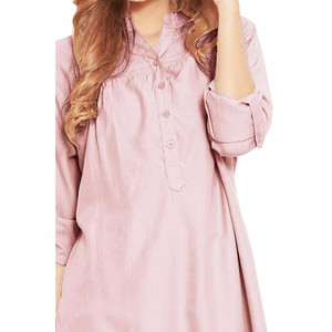 NEW JO & NIC Kemeja Tunik Lengan Panjang 3 size M/L/XL - Lavender HGB
