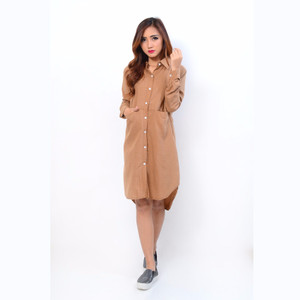 NEW Jfashion Long Tunik Amanda - Coklat HGB