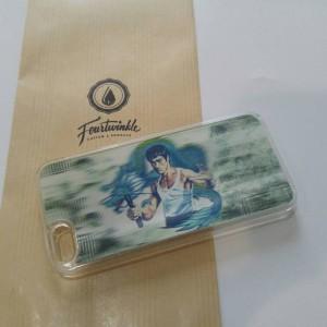 Casing iphone 5 5s bruce lee nunchucks hard case 3D