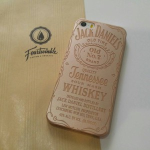Case iphone 5 5s jack daniels gold bagus dan slim