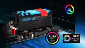 GEIL DDR4 EVO X RGB LED PC19200 Dual Channel 16GB (2x8GB)