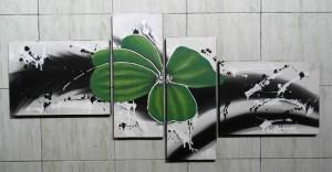 Lukisan Bunga ABS33 Hijau