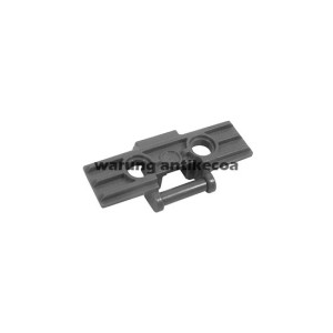 LEGO Part: Dark Bluish Gray Technic Link Tread Wide with Two Pin Hole