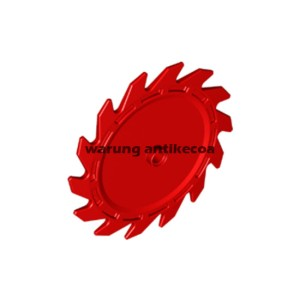 LEGO Part: Red Technic Circular Saw Blade 9 x 9 with Pin Hole