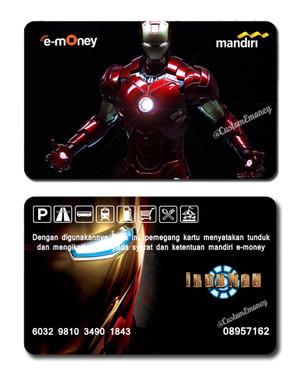 kartu emoney mandiri etoll e-money e-toll ironman design #2 avengers