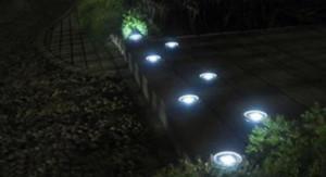 lampu tanam bulat 3 LED solar power