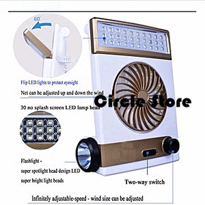 Lampu Emergency LED + Kipas Angin Bestbuy 4 in 1 Series