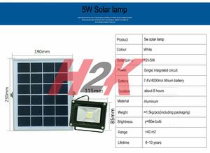 Lampu Sorot - Lampu Taman - Lampu Tembak Tenaga Surya - Solar - 5W