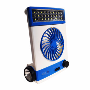 Kipas Angin Plus Lampu Solar - Lampu LED 30 LED - Lampu Emergency