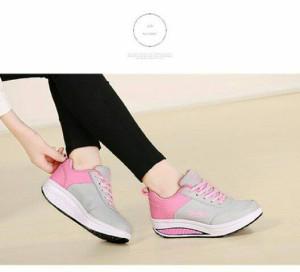 Sepatu wanita KETS FAIHIN 02 PINK ABU /casual / sneaker / flat shoes