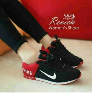 KETS SPON NIIKE BLACK RED NEW 02 / SEPATU NIKE CASUAL AND FASHIONABLE
