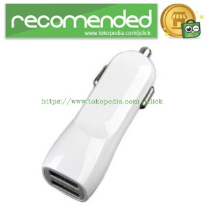 AUW Dual USB Charger for Mobile Phone & Pad 5V 2.1A - SP010 - White