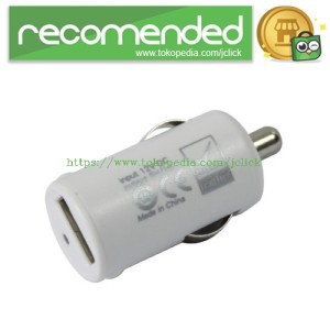 Micro Auto USB in Car Charger Universal - White