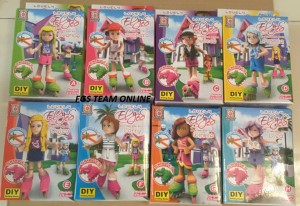 LEGO LOVELY ELYES SKATERBOARD GIRLS ISI 8 PCS