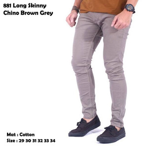 celana long skinny chino brown grey
