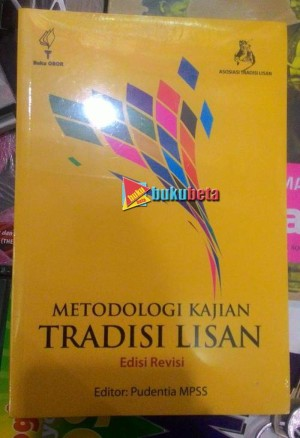 Metodologi Kajian Tradisi Lisan - Pudentia MPSS Diskon
