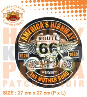 Patch Jaket Touring Amerikan Highway Mother Road Motorcycle Caferacer