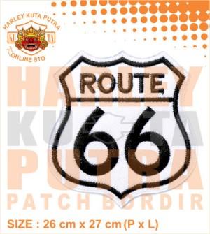 Patch Jaket Touring Rute Jalan 66 Motorcycle Caferacer untuk rompi har