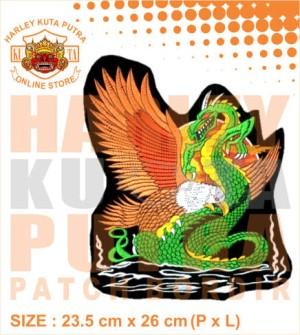 Patch Jaket Touring Eagle Versus Dragon Motor Bikers untuk jaket harle